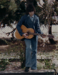 Click for a closer look at Vance with his first guitar.